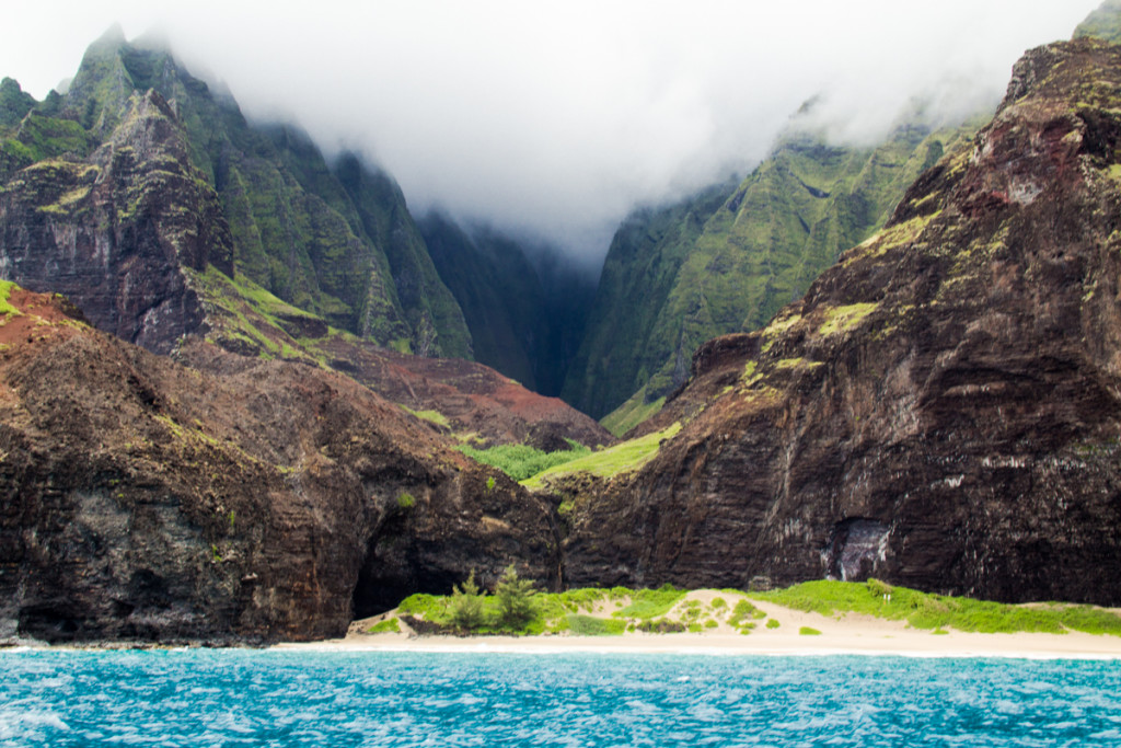 The Cathedral: One of the many stunning views of the Na Pali Coast along the 5 hour tour.