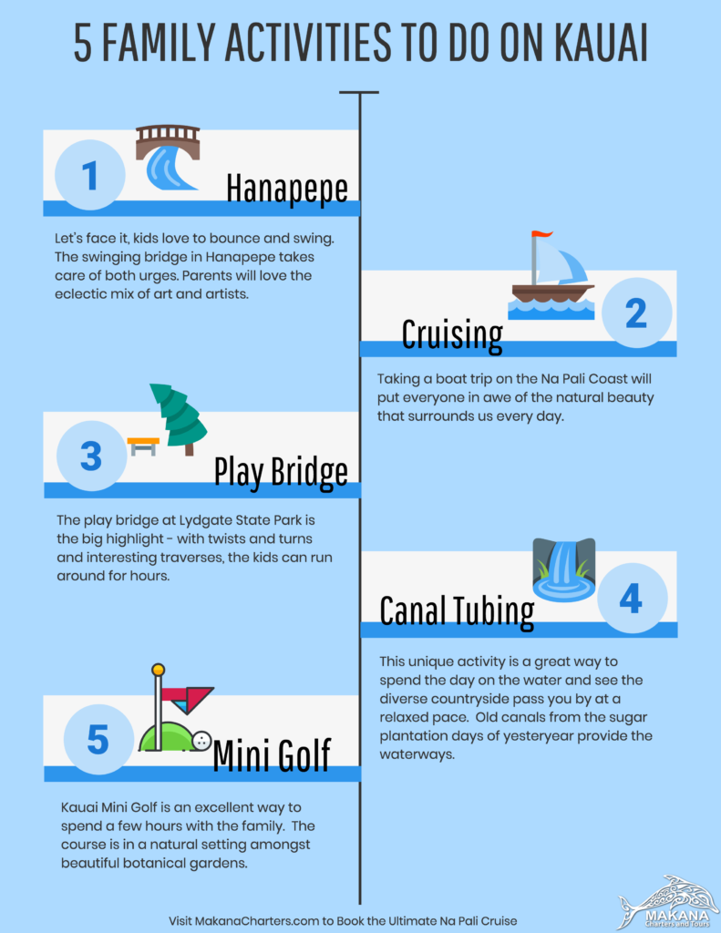 5 Family Activities to do on Kauai [Infographic] - Makana Charters