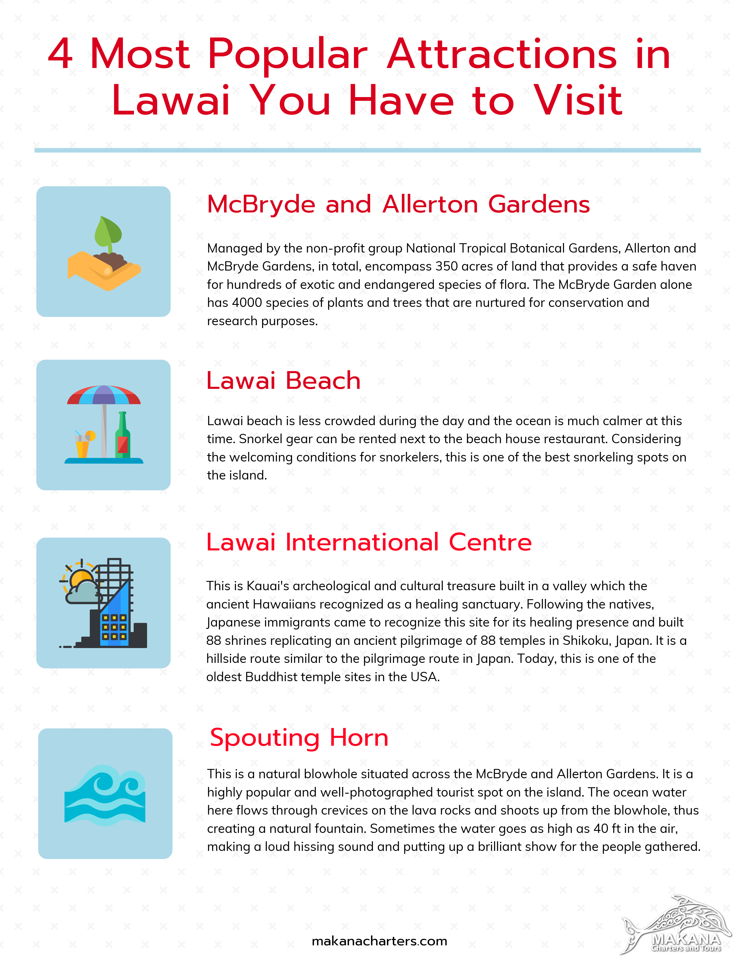 4 Most Popular Attractions in Lawai You Have to Visit [Infographic]